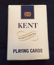 Kent Cigarette Playing Cards Plastic Coated Advertising