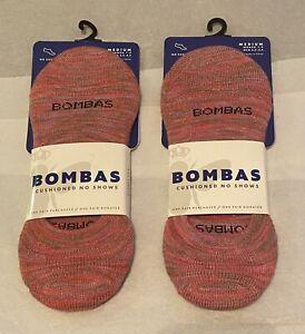 Brand New 2 Women's Bombas No Show Socks Sz Medium Size 7-9 $24 Value 2 Pairs