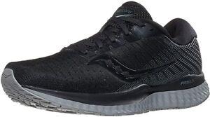 Saucony Men's Guide 13 Running Shoes, Blackout, 8 2E(W) US