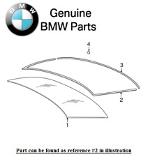For BMW E60 E61 5-Series Rear Upper Windshield Moulding Genuine 51317057415