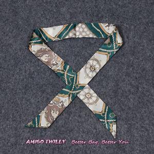 NEW AMIGO Multi-Use Silk Scarf Twilly Wrist Head Band Bag Ribbon Bow Wrap BXX
