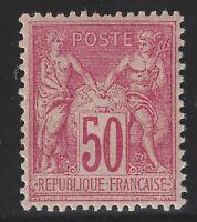 n°98 Sage 50c Rose Type II N sous U Neuf ** TB - Signé Calves