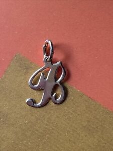 14K Yellow Gold Letter B Initial Charm