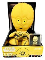 Star Wars C-3PO Gold Stylized 7 In Collectible Plush With Enamel Pin Disney NEW