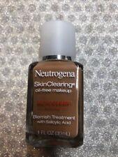 (1) Neutrogena Skin Clearing Oil Free Makeup 115 Cocoa EXP 11/18