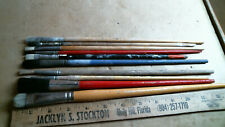 New listing 10 Long Handle Artist's Brushes oil watercolor acrylic vintage old