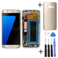 Für Samsung Galaxy S7 Edge G935F LCD Display Touch Screen Bildschirm+Rahmen Gold