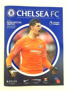Chelsea fc Match Day Programme Manchester United 2017 Premiere League + Poster