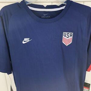 Men's USMNT Nike 2020 Breathe Pre-Match Jersey USA Soccer Dri-Fit Navy Sz L New