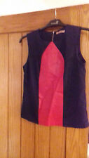 Ladies Leather Feature Top
