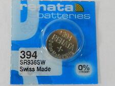 RENATA  Watch Battery  #394 /SR936SW   Swiss Made  1Pc