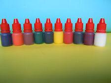 Eopxy resin color pigments colorants liquid set of 10 colors