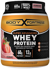 Whey Protein Powder To Build Lean Muscle & Strenght, Strawberry Flavored, Gym