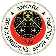 """Genclerbirligi SK Turkey Football Soccer Car Bumper Vinyl Sticker Decal 4.6""""X4.6"""