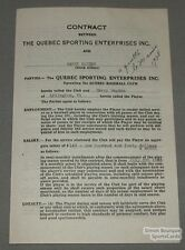 1938 Quebec Baseball Contract Signed by Harry Hayden