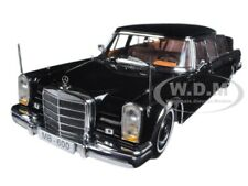 1966 MERCEDES BENZ 600 LANDAULET LIMOUSINE BLACK 1/18 DIECAST BY SUNSTAR 2302
