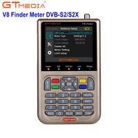 "GTMedia V8 Finder Meter 1080P(V-73HD)DVB-S2/S2X HD Signal Finder MPEG-4 3.5"" LCD"