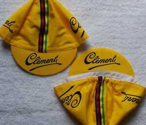CLEMENT PNEUMATICI  Yellow Cycling Cap - Bike Hat