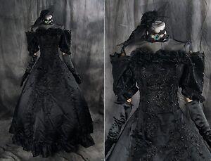 a-277 Vocaloid Miku Cosplay Kostüm Gothic Victorian schwarz Abend-Kleid Hochzeit