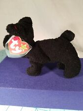 RARE - TY Beanie Baby - Scottie the Dog, No Star on Tush Tag, PVC, w/ 13 Errors