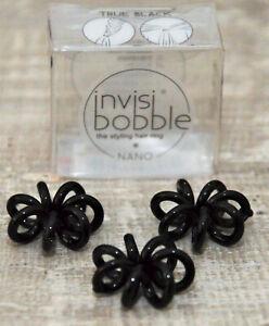 Invisibobble Haarringe 3 Stück schwarz - THE STYLING HAIR RING- NEU