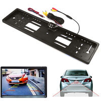 170° Reverse Car Rear View Backup Parking Camera IR  & License Plate Frame