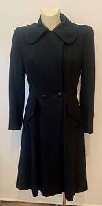 VTG Women's 40s 50s Black Wool Princess Waist Coat AS-IS