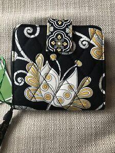 VERA BRADLEY Mini Zip Wallet YELLOW BIRD New with Tags, Retired, Exact Item