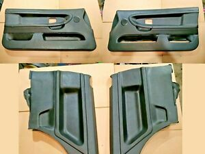 BMW E36 COUPE BLACK LEATHER OEM VINYL DOOR CARDS INTERIOR UPHOLSTERY FRONT REAR