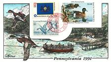 1991 Dingmans Ferry Pennsylvania Duck Stamp Milford Hand Painted First Day Cover