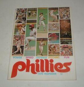 1978 PHILADELPHIA PHILLIES SOUVENIR YEARBOOK MAGAZINE LARRY BOWA MIKE SCHMIDT