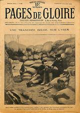 GUERRE WAR KRIEG 14/18 REVUE PAGES DE GLOIRE BELGIQUE ECOSSE EAST AFRICA 1915