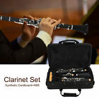 Clarinet Set 17Key Wood Bb Cleaning Cloth Reed Screwdriver Box for Musical Lover