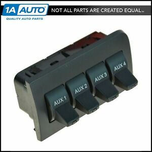 Motorcraft SW6460 4 Button Auxiliary In-Dash Upfitter Switch for Ford Truck Van