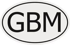 Aufkleber Autokennzeichen GBM = Isle of Man Autoaufkleber Sticker