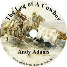 The Log of a Cowboy, Wild West Audiobook by Andy Adams on 1 MP3 CD Free Shipping