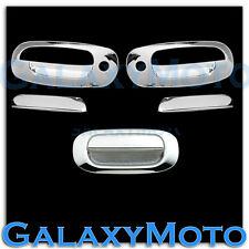 97-04 Dodge Dakota Triple Chrome 2 Door Handle W/ PSG Keyhole+Tailgate cover