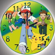 """Wanduhr - Uhr für das Kinderzimmer - Motiv - Pokemon """"grün"""" - Kinderuhr"""