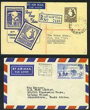 AUSTRALIA 1948 2sh FDC ON REGISTERED LETTER TO NEW ZEAL