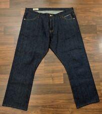Detroit Denim Hockey Mens Jeans Straight Leg Button Fly Indigo Dark Wash 42 x 30