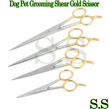 "Dog Pet Grooming Shear Gold Scissor Set:4.5""5.5""6.5&7.5"""