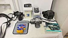 Yashica Japan FRII Film SLR Camera, case, Lenses,Flash,Accessories AS SHOWN