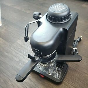 Krups Black Mini 4-Cup Espresso Cappuccino Maker Frother 963/B