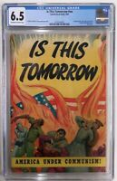 🔥IS THIS TOMORROW CGC 6.5**CATECHETICAL GUILD, 1947**CLASSIC WW2 FLAG COVER**