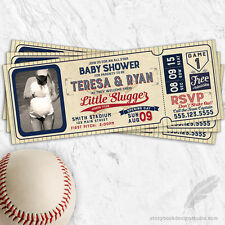Baseball Ticket Baby Shower Invitations / Printed Set of 10