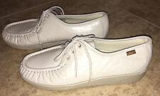 SAS Siesta Handsewn Lace Up Comfort Oxfords Bone White Shoes Walking 8 W $125