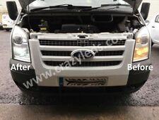 Ford Transit Mk6 Mk7 H4 Headlight upgrade kit inc LED Sidelights, Number plate