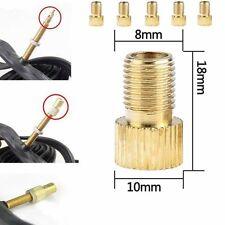 5x Brass Adaptor  To Schrader Bicycle Valve Converter Bike Pump Adapter ok
