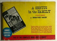 A GENIUS IN THE FAMILY by Hiram P. Maxim (Armed Services Edition) paperback 778