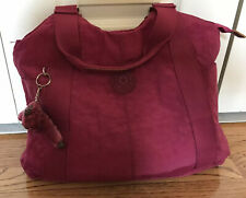 New Without Tags. Kipling Tote Medium. Fuchsia Color. Lots Of Pockets